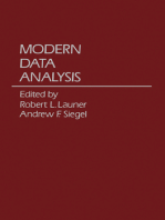 Modern Data Analysis
