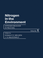 Nitrogen Behavior in Field Soil