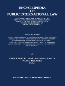 Use of Force · War and Neutrality Peace Treaties (A-M)