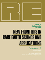 New Frontiers in Rare Earth Science and Applications