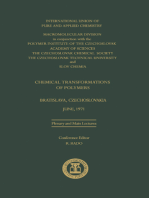Chemical Transformations of Polymers