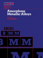 Amorphous Metallic Alloys