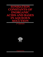 Ionisation Constants of Inorganic Acids and Bases in Aqueous Solution