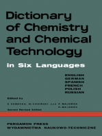 Dictionary of Chemistry and Chemical Technology: In Six Languages: English / German / Spanish / French / Polish / Russian