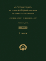 Coordination Chemistry—XIV: Plenary Lectures Presented at the XIVth International Conference on Coordination Chemistry Held at Toronto, Canada, 22—28 June 1972