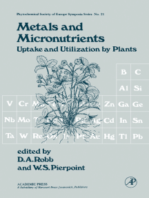 Metals and Micronutrients: Uptake and Utilization By Plants