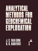 Analytical Methods For Geochemical Exploration