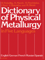 Dictionary of Physical Metallurgy