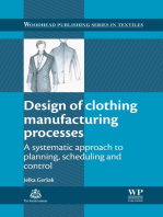 Design of Clothing Manufacturing Processes
