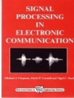Signal Processing in Electronic Communications