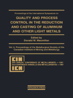 Proceedings of the International Symposium on Quality and Process Control in the Reduction and Casting of Aluminum and Other Light Metals, Winnipeg, Canada, August 23–26, 1987: Proceedings of the Metallurgical Society of the Canadian Institute of Mining and Metallurgy