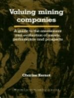 Valuing Mining Companies