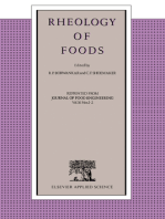 Rheology of Foods