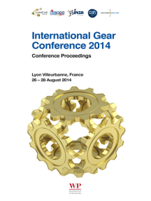International Gear Conference 2014: 26th-28th August 2014, Lyon