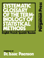 Systematic Glossary of the Terminology of Statistical Methods