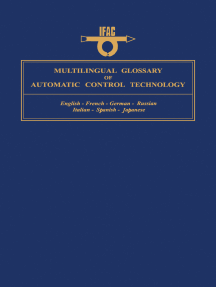 Multilingual Glossary of Automatic Control Technology: English - French - German - Russian - Italian - Spanish - Japanese