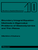 Boundary Integral Equation Methods in Eigenvalue Problems of Elastodynamics and Thin Plates