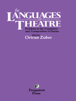 The Languages of Theatre