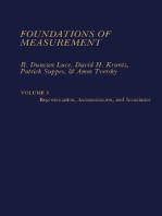 Foundations of Measurement