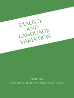 Dialect and Language Variation