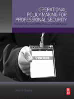 Operational Policy Making for Professional Security