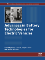 Advances in Battery Technologies for Electric Vehicles