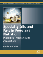 Specialty Oils and Fats in Food and Nutrition: Properties, Processing and Applications
