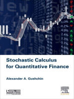 Stochastic Calculus for Quantitative Finance