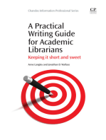 A Practical Writing Guide for Academic Librarians