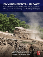 Environmental Impact of Mining and Mineral Processing