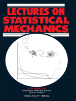 Lectures on Statistical Mechanics