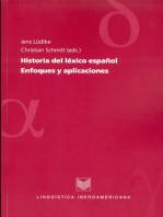 Historia del léxico español