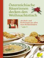 Österreichische Bäuerinnen decken den Weihnachtstisch