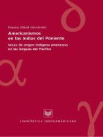 Americanismos en las Indias del poniente