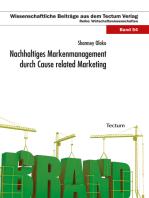 Nachhaltiges Markenmanagement durch Cause related Marketing