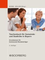 Taschenbuch für Gemeinde- und Stadträte in Bayern