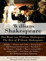 Das Beste von William Shakespeare / The Best of William Shakespeare - Zweisprachige Ausgabe (Deutsch-Englisch) / Bilingual edition (German-English)