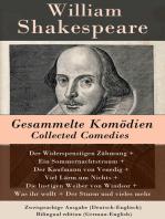 Gesammelte Komödien / Collected Comedies - Zweisprachige Ausgabe (Deutsch-Englisch) / Bilingual edition (German-English)