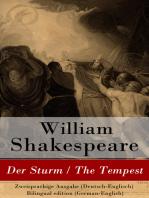 Der Sturm / The Tempest - Zweisprachige Ausgabe (Deutsch-Englisch) / Bilingual edition (German-English)