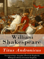 Titus Andronicus - Zweisprachige Ausgabe (Deutsch-Englisch) / Bilingual edition (German-English)