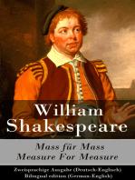 Mass für Mass / Measure For Measure - Zweisprachige Ausgabe (Deutsch-Englisch) / Bilingual edition (German-English)