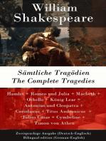Sämtliche Tragödien / The Complete Tragedies - Zweisprachige Ausgabe (Deutsch-Englisch) / Bilingual edition (German-English)