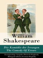 Die Komödie der Irrungen / The Comedy Of Errors - Zweisprachige Ausgabe (Deutsch-Englisch) / Bilingual edition (German-English)