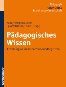 Pädagogisches Wissen: Erziehungswissenschaft in Grundbegriffen