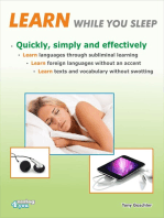Learn while you sleep. Quickly, simply and effectively.
