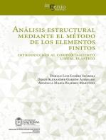 Análisis estructural mediante el método de los elementos finitos. Introducción al comportamiento lineal elástico