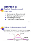 PPT on Capital Structure and Leverage