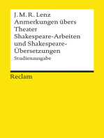 Anmerkungen übers Theater. Shakespeare-Arbeiten und Shakespeare-Übersetzungen