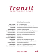 Transit 44. Europäische Revue: Zukunft der Demkoratie