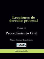 Lecciones de derecho procesal. Tomo II Procedimiento Civil